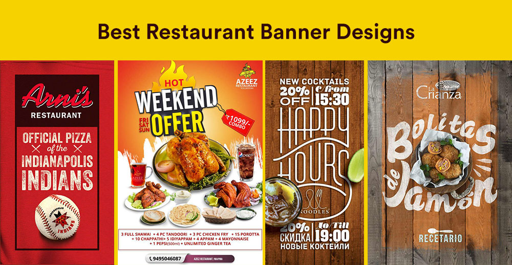 15 Best Restaurant Banner Design Examples