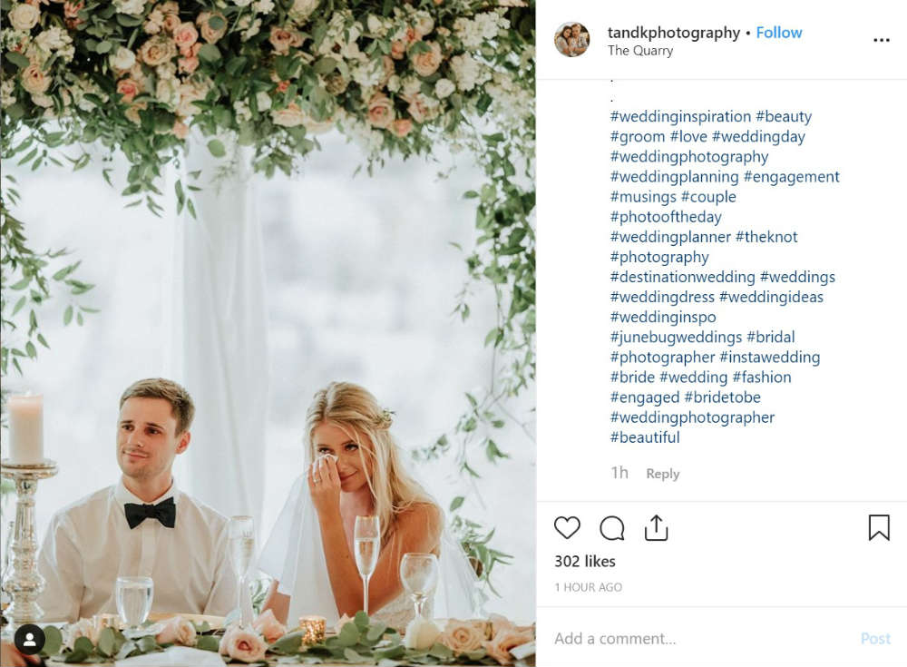 Top Wedding Instagram Hashtags To Use Unlimited Graphic