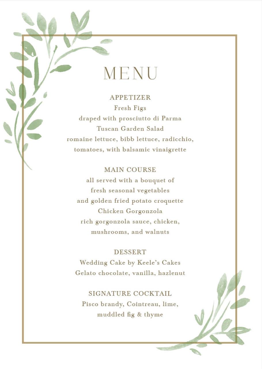 Beautiful Custom Wedding Menu Cards That Will Inspire You