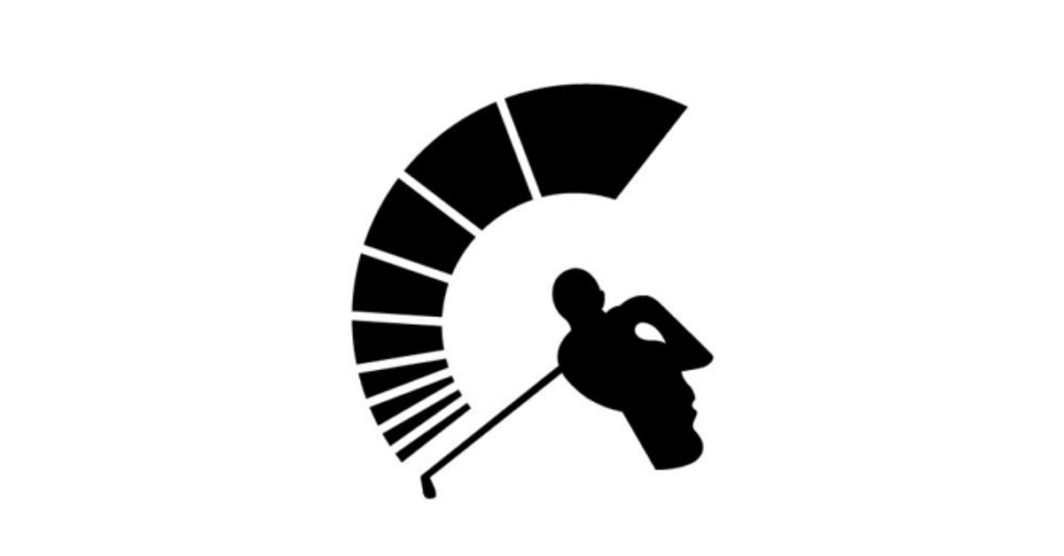 sanderson spartan golf logo design