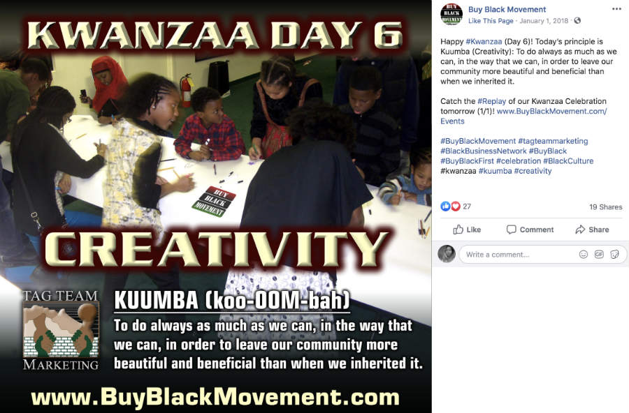 black movement kwanzaa fb