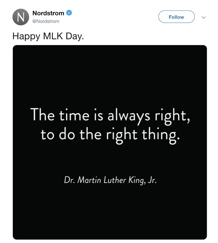 nordstrom martin luther king day ad